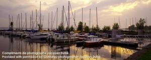 Bateaux à la Marina Coucher du soleil | Sunset boats at Marina Aylmer Québec